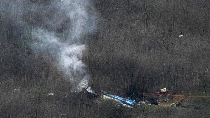 Penampakan Helikopter Kobe Bryant yang Hangus Terbakar