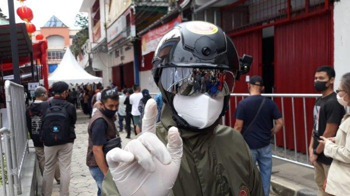 Dalam Jarak 10 Meter, Helm Thermal KC Wearable BIN Bisa Pindai Suhu Tubuh Otomatis