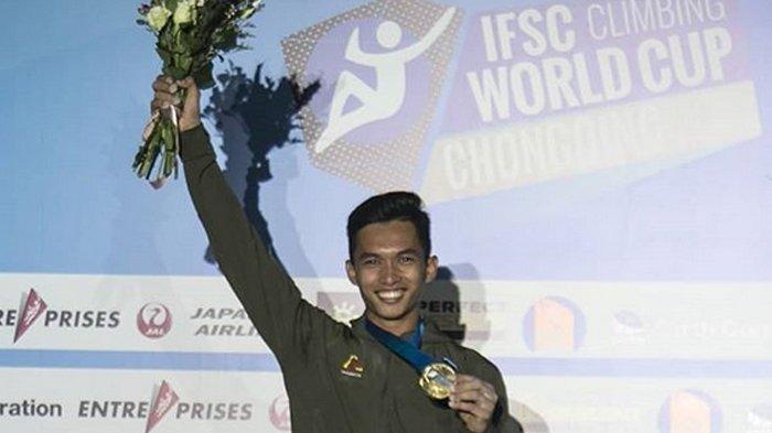 Atlet Panjat Tebing Indonesia, Alfian M Fajri Jadi Juara Dunia di Perancis