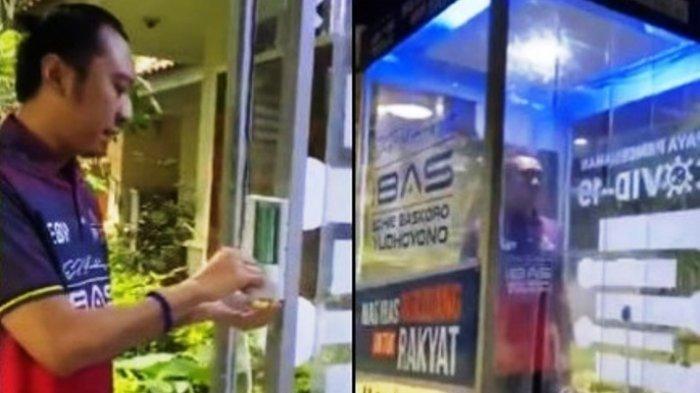 Gaya Ibas Perkenalkan Bilik Disinfektan untuk Cegah Corona, Praktekan Cara Pakai Hand Sanitizer