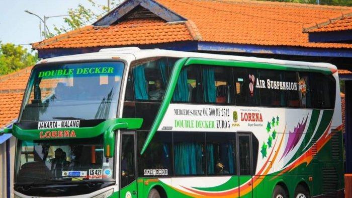 Ilustrasi -- Bus Lorena angkut penumpang mudik