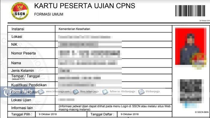 Cara Cetak Kartu Ujian CPNS 2018 di sscn.bkn.go.id, Wajib Dibawa Saat Tes SKD