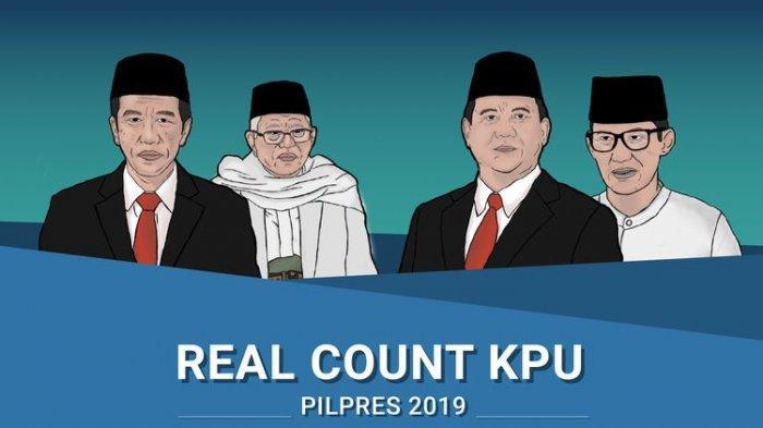Hasil Real Count KPU Pilpres 2019 Jokowi vs Prabowo, Selasa 7 Mei 07.00 WIB, Data Masuk 69%