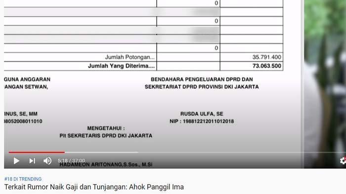 Ima Mahdiah, anggota DPRD DKI ungkap gajinya selama jadi anggota dewan kepada Ahok