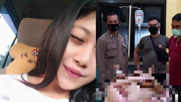Indah Diani dibakar kekasihnya di Cidaun, Cianjur.
