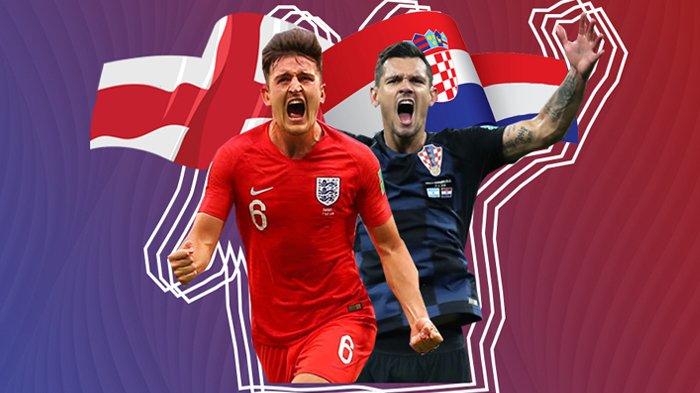 Jelang Semifinal Piala Dunia 2018 Inggris Vs Kroasia - Ini Head To Head dan Prediksi Skornya