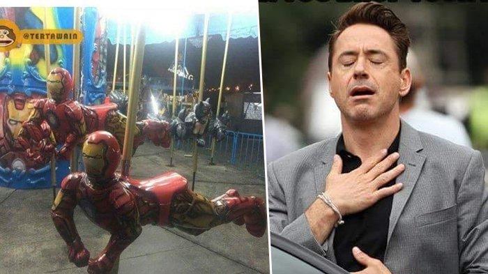 Tony Stark Posting Foto Kuda-kudaan Iron Man Di Indonesia, Netter Malah Pengen Naik yang Di Belakang
