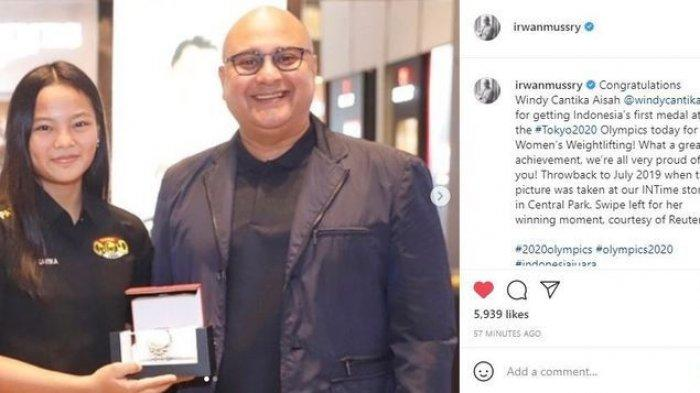 Irwan Mussry apresiassi dan beri hadiah untuk peraih olimpiade 2021, Windy Cantika