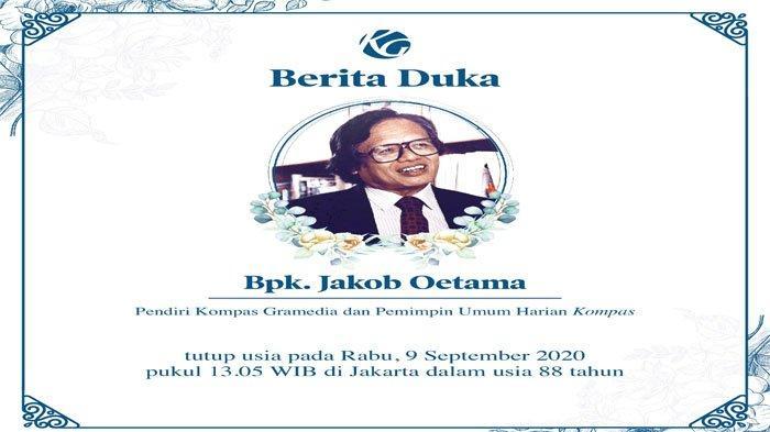 Kenang Sosok Jakob Oetama, Gubernur Ganjar Pranowo : Beliau Rendah Hati, Sangat Intelek