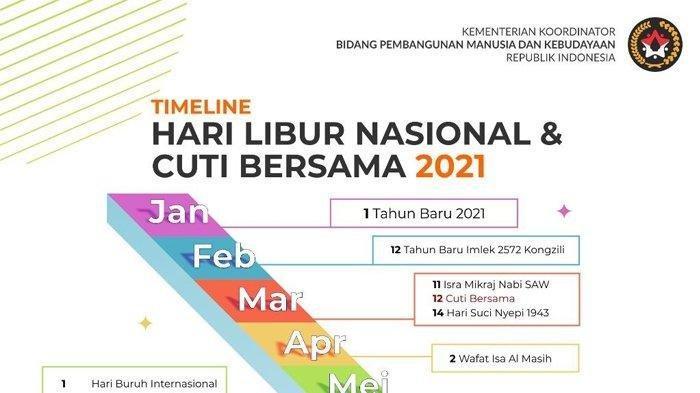 Catat! Ini Daftar Lengkap Cuti Bersama dan Libur Nasional 2021 - Ada Tambahan di Bulan Desember