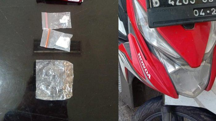Simpan Ganja dan Sabu di Jok Motor, Bandar Narkoba Tak Berkutik Dijemput Polisi