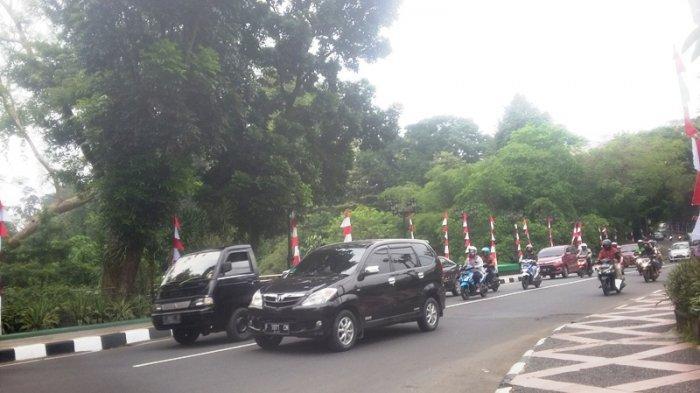 Kondisi Lalu Lintas Jalan Jalak Harupat Bogor Selasa 18 Agustus 2020