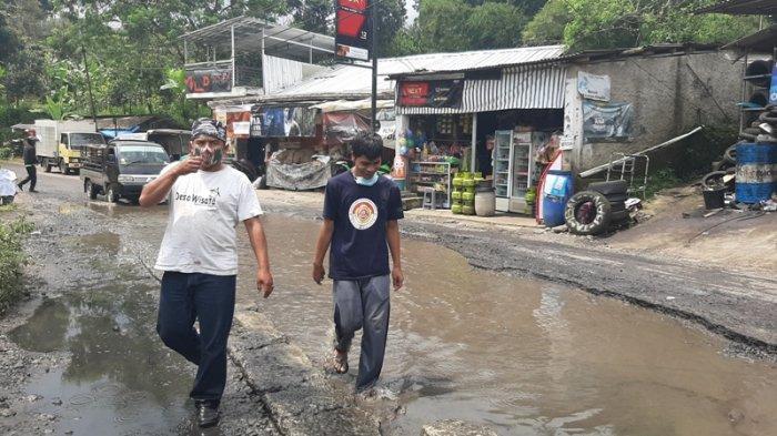 Jalan Curug Nangka Bogor Akhirnya Diperbaiki, Ketua Karang Taruna Berterimakasih