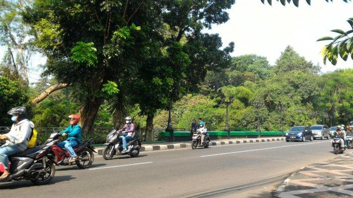 Arus Lalu Lintas di Jalan Jalak Harupat Kota Bogor Pagi Ini Ramai Lancar