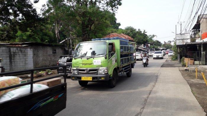 Kondisi Lalu Lintas di Jalan Kedung Halang Bogor Senin 13 Juli 2020