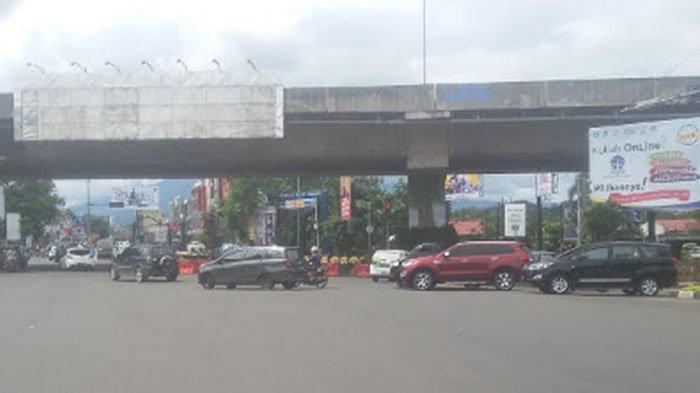 Lalu Lintas Simpang Tol BORR Lancar, Kondisi Cuaca Berawan