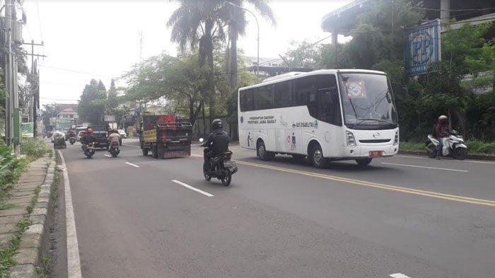 Lalu Lintas di Jalan KS Tubun Kota Bogor Saat Ini Terpantau Ramai Lancar