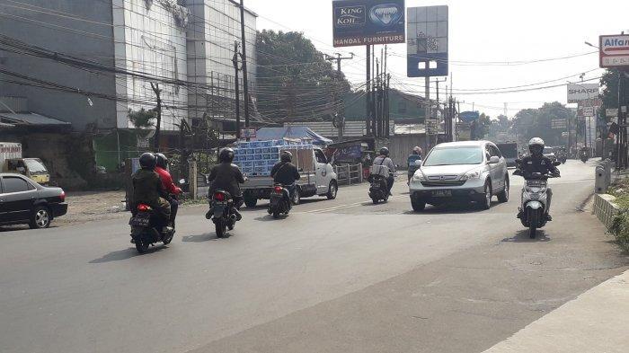 Lalu Lintas di Jalan KS Tubun Kota Bogor Saat Ini Tampak Ramai Lancar, Cuaca Cerah