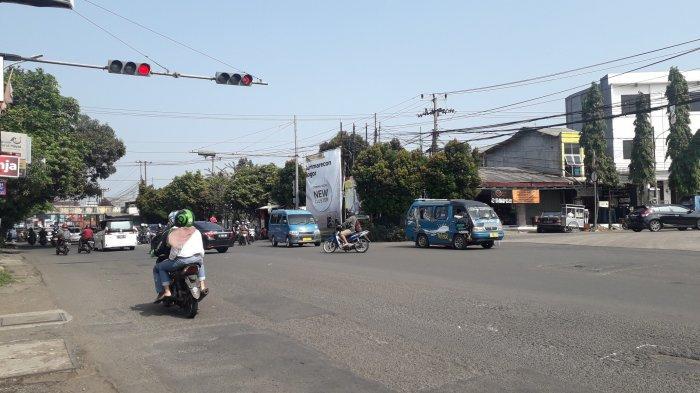 Cuaca Cerah, Lalu Lintas di Simpang Talang Kota Bogor Saat Ini Ramai Lancar