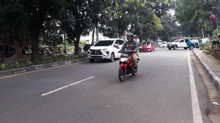 Kondisi Lalu Lintas dari Arah Pomad Lancar di Jalan Pajajaran Bogor