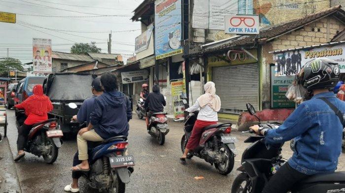 Pagi Ini Jalan Raya Citayam Menuju Depok Padat