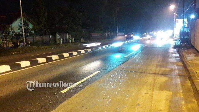 INFO TRAFFIC PUKUL 21.00 WIB: Jalan Raya Parung Bogor Malam Ini Ramai Lancar