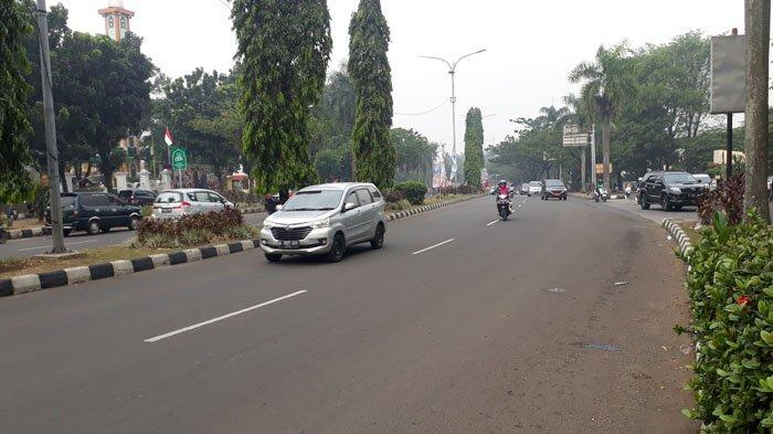 Kondisi Lalu Lintas di Jalan Raya Tegar Beriman Kabupaten Bogor Saat Ini