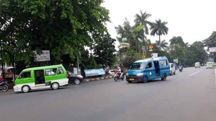 Pagi Ini Lalu Lintas di Simpang Jalan Sawo Jajar Arah Pasar Anyar Ramai