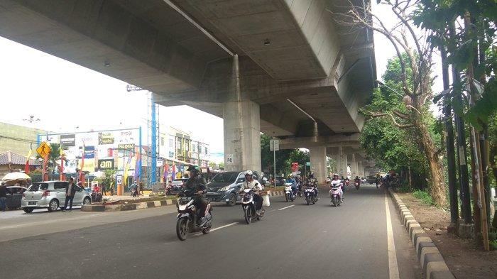 Laju Kendaraan Dari Kampus UIKA Bogor Lancar ke Arah Simpang Tol BORR