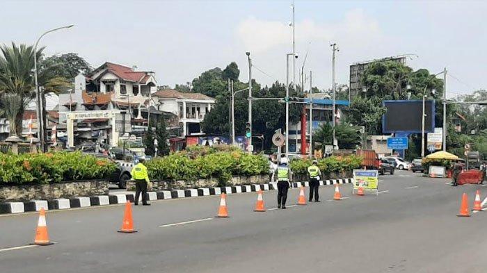 Simpang Gadog Akhir Pekan Ini Lengang, Danrem 061/SK Sebut Penerapan PPKM Darurat Efektif