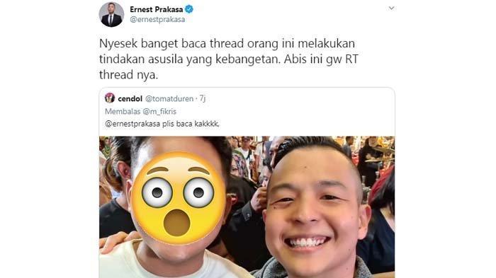Ngeri Cerita Fetish Pria Dibungkus Kain Jarik, Ernest Prakasa Kaget Pernah Foto Bareng Sang Predator