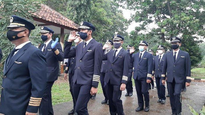 Suasana jelang pemakaman Captain Afwan di TMP Pondok Rajeg, Cibinong, Kabupaten Bogor, Sabtu (30/1/2021).