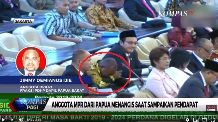 Jimmy Nangis Saat Interupsi, Ditertawai Ketika Minta Anggota DPR Sumbang untuk Pengungsi Papua
