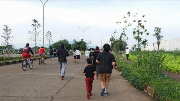 Isi Libur Akhir Pekan, Warga Bogor Pilih Olahraga Jogging di Pakansari