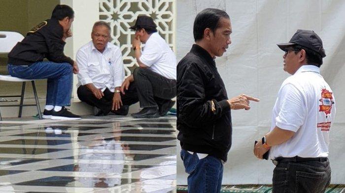 Potret Jokowi Saat Beri Arahan kepada Para Menterinya, Sampai Lesehan di Teras Masjid