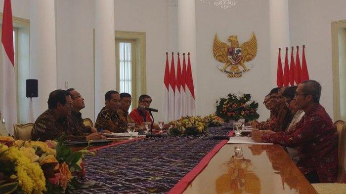 Lima Pimpinan KPK Temui Jokowi di Istana Bogor