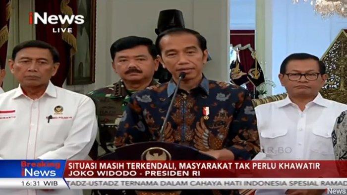 Jokowi Ditanya Soal Dalang Kerusuhan 22 Mei di Bawaslu : Urusan Pak Menko