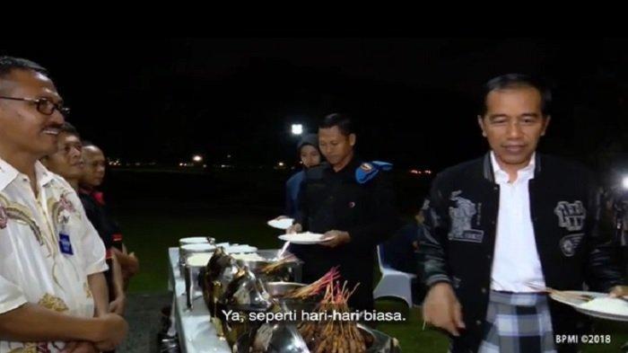 Malam Tahun Baru 2019, Jokowi Traktir Paspampres dan Pegawainya Jajanan Kaki Lima di Istana Bogor