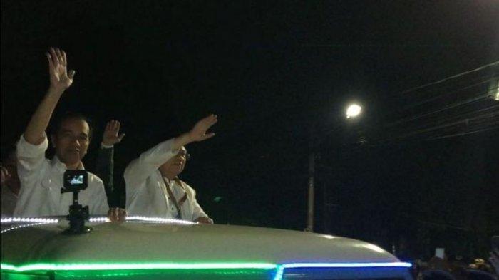 Datang ke KPU RI, Jokowi-Ma'ruf Menumpang Mobil Land Rover