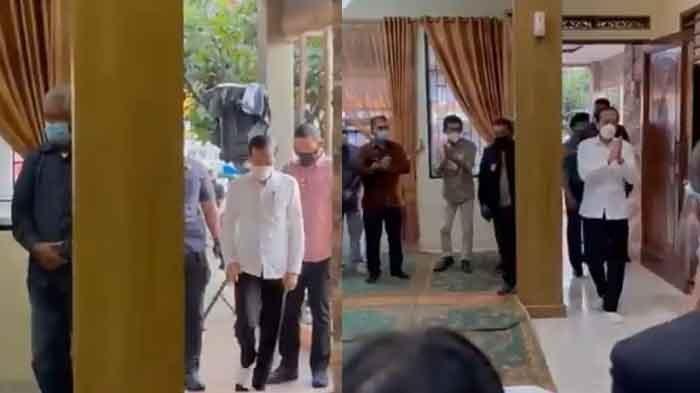 Melayat ke Rumah Duka Viktor Sirait, Momen Jokowi Lepas Sepatu Jadi Sorotan, Ajudan Kebingungan