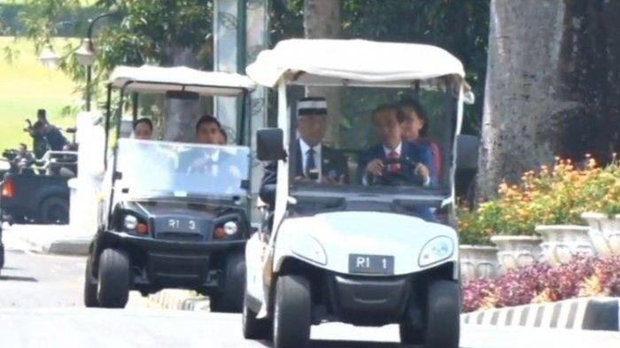 Jokowi Sopiri Raja Malaysia Keliling Kebun Raya Bogor