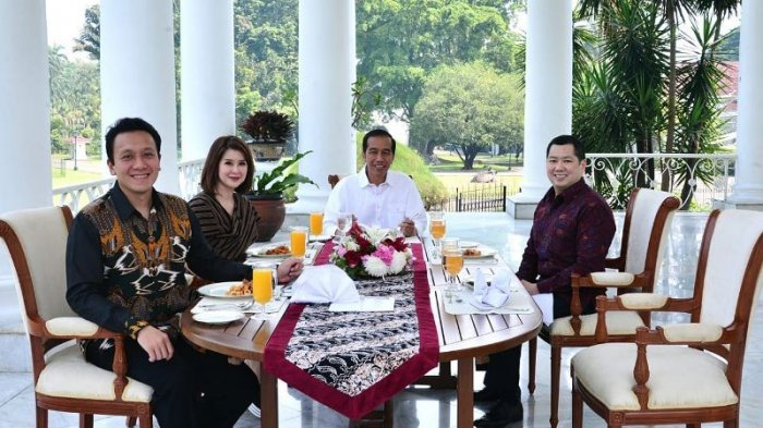 Makan Siang Bareng Ketum Parpol di Istana Bogor, Jokowi Hidangkan Soto Daging Hingga Omelet Kerang