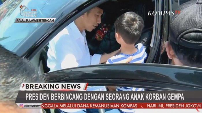 Ibunya Meninggal dan Ayahnya di Rumah Sakit Akibat Gempa, Bocah di Palu Ini Ingin Ikut dengan Jokowi