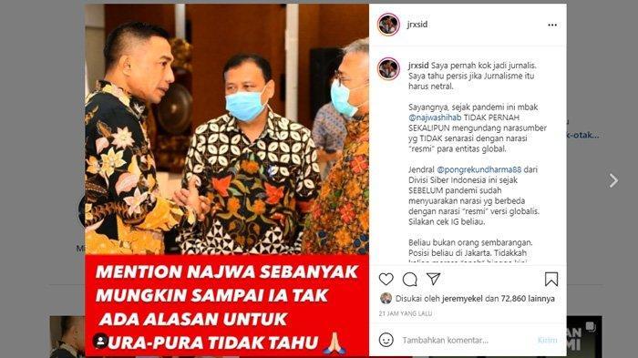 Jerinx Tantang Najwa Shihab Undang Narsum Bahas Covid-19