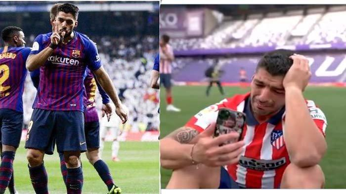 Tangisan Luis Suarez Juarai Liga Spanyol Bareng Atletico Madrid, Sindir Barcelona: Dulu Saya Dibuang