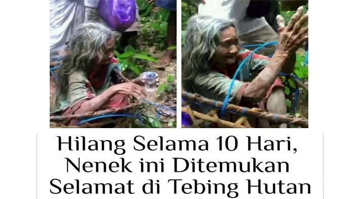 Nenek Cukri Ditemukan di Dasar Jurang Setelah 10 Hari Hilang, Segar Bugar Walau Tak Makan dan Minum