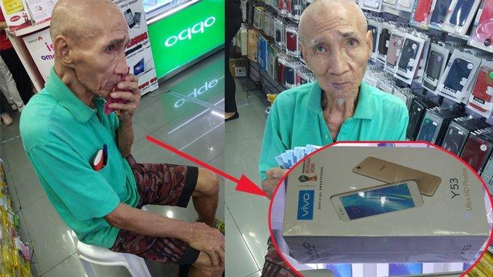 Viral ! Kakek Ini Mau Belikan Cucu Sebuah Ponsel, 3 Bulan Kumpulkan Uang Tetap Kurang, Akhirnya . .