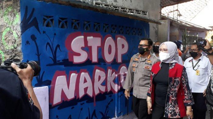 Kampung Tangguh Anti Narkoba di Cikaret Bogor Diresmikan, Satu Gang Dilukis Mural