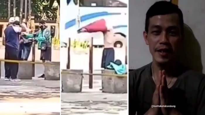 Aksi Driver Ojol Buka Pakaian di Pinggir Jalan Viral, Perlakuannya ke Orang Tak Waras Menyentuh Hati