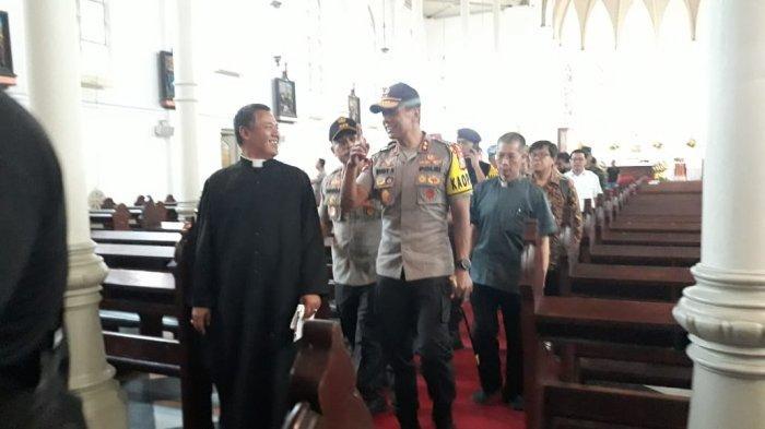 BREAKING NEWS - Kapolda Jabar Cek Keamanan di Gereja Katedral Kota Bogor